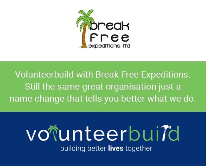 Break Free Expeditions is now Volunteer Build